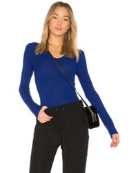 Enza Costa - Rib Fitted Long Sleeve Top - Lyst