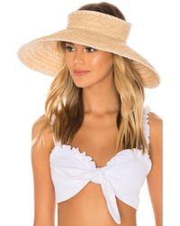 Hat Attack Whipstitch Roll Up Travel Visor - White