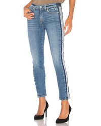 7 For All Mankind - Roxanne Ankle With Reverse Fray Tux - Lyst