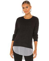 Bobi Waffle Knit Shirting Sweater - Black