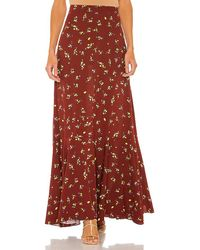 Free People Ruby's Forever Maxi Skirt - Brown