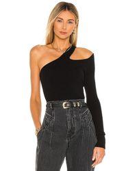 Camila Coelho Rashida ワンショルダーセーター - ブラック