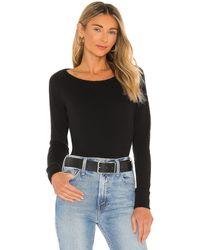 James Perse Classic Long Sleeve Raglan スウェットシャツ - ブラック