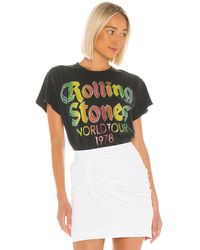 MadeWorn The Rolling Stones World Tour '78 Glitter Tee - Multicolor