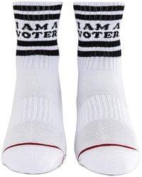Mother X I Am A Voter Socks - Weiß