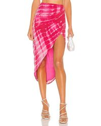 h:ours Cavo Midi Skirt - Pink