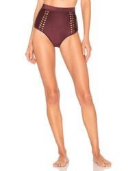 Zimmermann - Juniper Button High Waist Bottom - Lyst