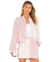 Amanda Uprichard Frankie Bomber Jacket - Pink