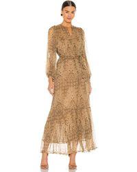 Mes Demoiselles - Макси Платье Cartier В Цвете Желтовато-коричневый Комбо - Lyst