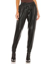 LNA Faux Leather Jogger - Schwarz