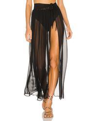 superdown Catalina Sheer Maxi Skirt - Black