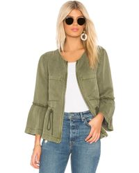 Sanctuary - Military Frill Peplum Jacket In Olive - Lyst