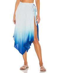 Indah X REVOLVE Selena Wrap Skirt - Blau