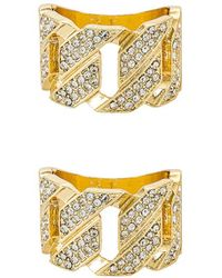 8 Other Reasons Diamond Studded Chain リングセット - メタリック