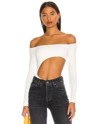 superdown Kassie Cut Out Bodysuit - White