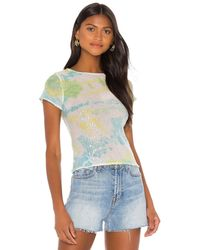 Lovers + Friends Evie Top In Tie Dye - Yellow. Size Xs (also In S). - Multicolour