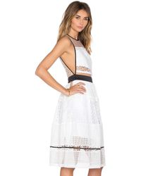 Kendall + Kylie Sleeveless Pierced Mixed-lace Dress - Black