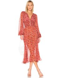 Caroline Constas Syros Dress - Red