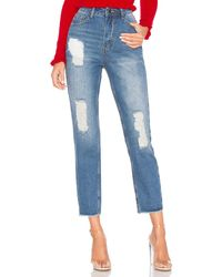 by the way. Sasha distressed jeans - Azul