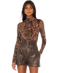 L'academie The Zelie Bodysuit - Brown