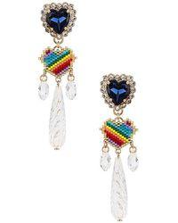 Anton Heunis Rainbow Heart Drop Earring - Multicolour