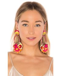 Ranjana Khan - Floral Drop Earring In Orange. - Lyst