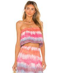 Tiare Hawaii Flutter Crop Top - Pink