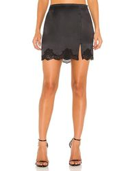 Fleur du Mal James Lace Slip Skirt - Black