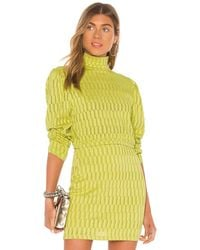 Kendall + Kylie Camellia Kleid in Green. Size XS, S. - Gelb
