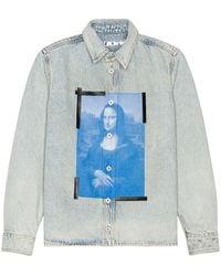 Off-White c/o Virgil Abloh - Рубашка Mona Lisa В Цвете Синий - Lyst