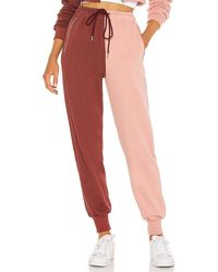 superdown Renna Two Tone Joggers - Red