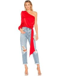 Lovers + Friends Kendall Blouse - Red