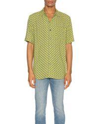 Neuw Paisley Short Sleeve Shirt - Grün