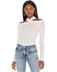 1.STATE Пуловер Cold Shoulder В Цвете Soft Ecru - Белый