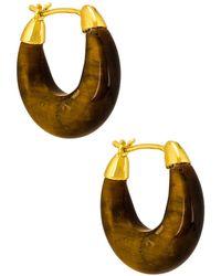 Loeffler Randall Pendientes de aro dorthea - Marrón