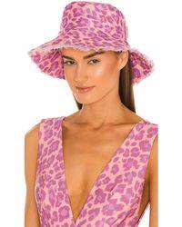 Zimmermann Панама Frayed В Цвете Пурпурный Леопард