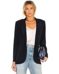Norma Kamali シングルブレストジャケット - ブルー