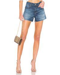 AG Jeans Hailey Cut Off Short. Size 24. - Blau