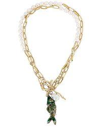 Joolz by Martha Calvo Deep Sea Charm Necklace - Metallic