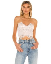 superdown Kendall Lace Crop Top - White