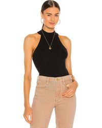 FRAME Luxe Halter Sweater Top - Black