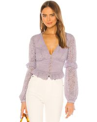 MAJORELLE Elvis Top - Lila