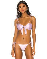 superdown X Chantel Jeffries Chantel Tie Bikini Top - Multicolour