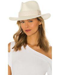 Rag & Bone Packable Straw Fedora Hat В Цвете Натуральный - Естественный