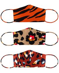 Lovers + Friends 3 Pack Protective Face Mask - Multicolour