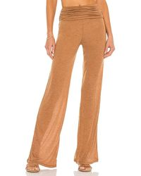 Michael Costello X Revolve Sheer Relaxed Pant - Brown