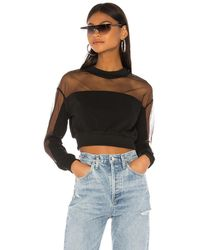superdown Lizbeth メッシュスウェットシャツ - ブラック