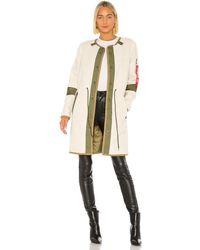 Alpha Industries Pile liner gen ii utility jacket with faux fur - Neutro