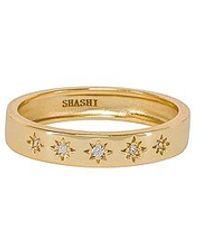 Shashi Twinkle Band Ring - Metallic