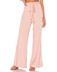 Line & Dot Bibi パンツ - ピンク